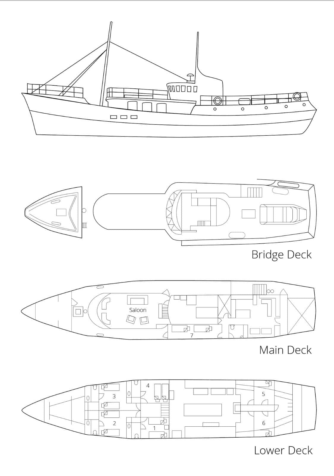 deck plan expedition vessel