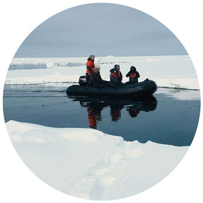 sea ice in svalbard in norway