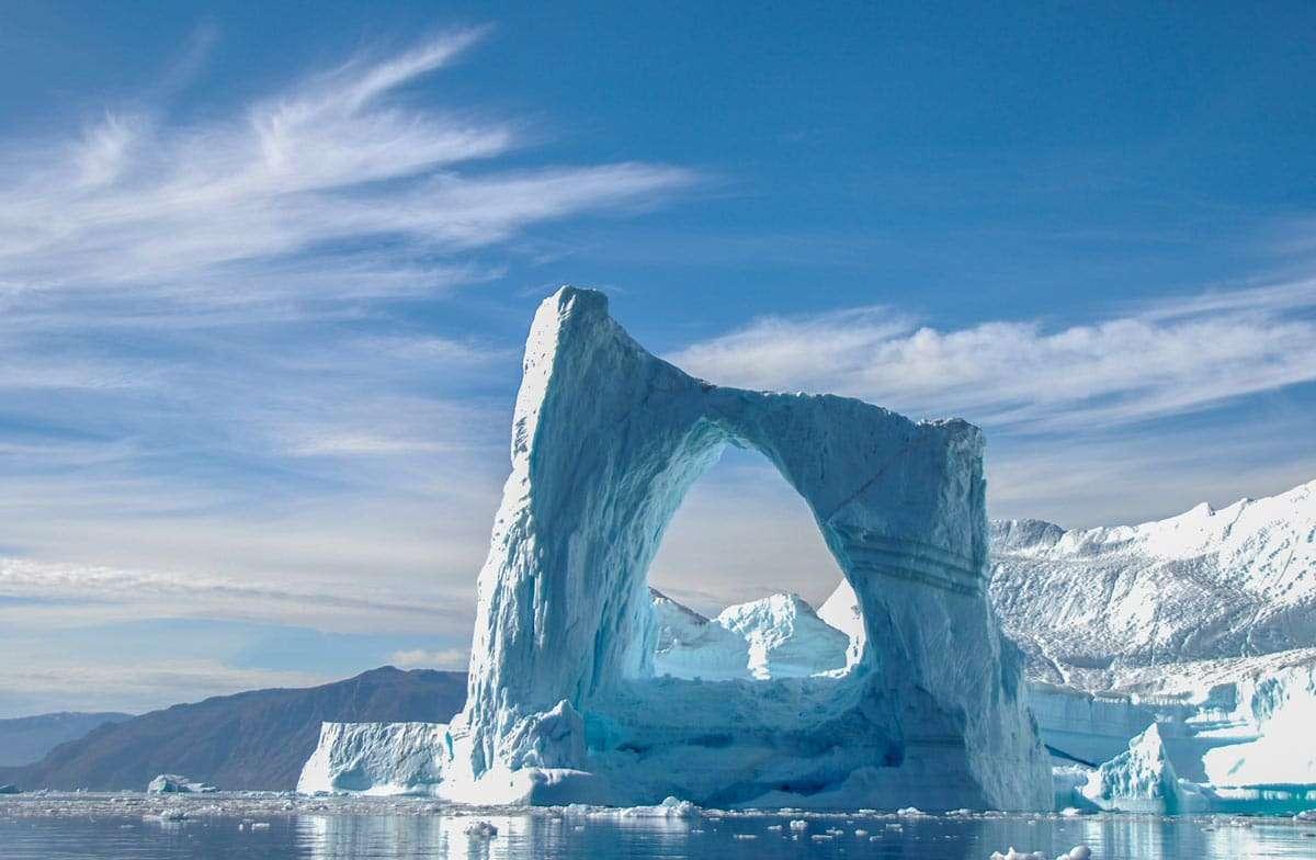 large iceberg disko bay