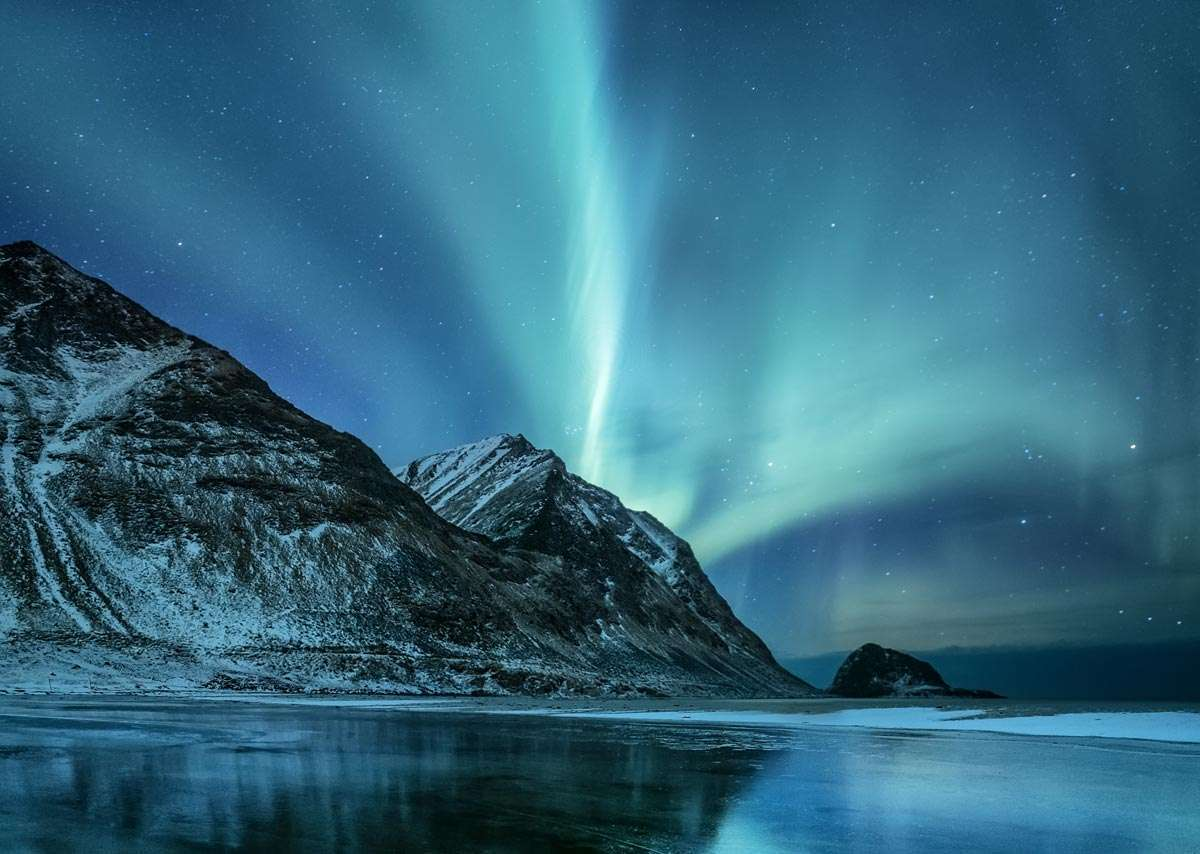 small ship cruises northern lights near tromso