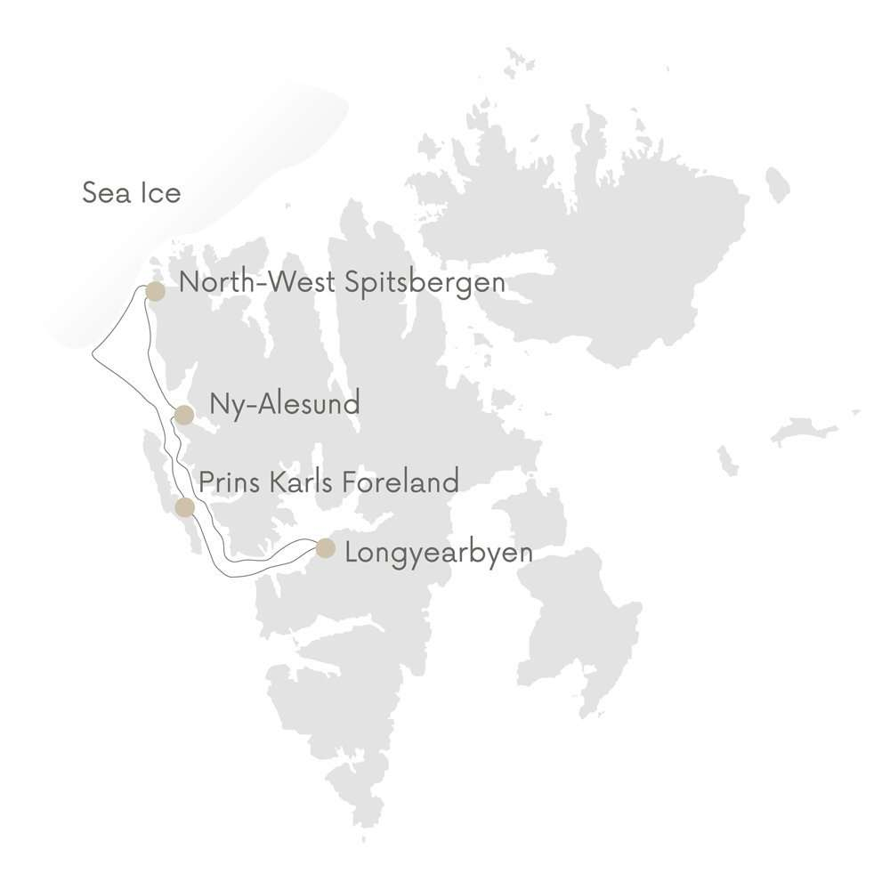 Svalbard photo tour map