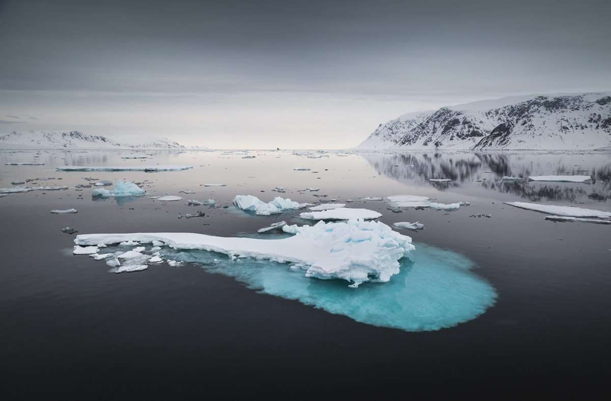 svalbard scenery by chase teron
