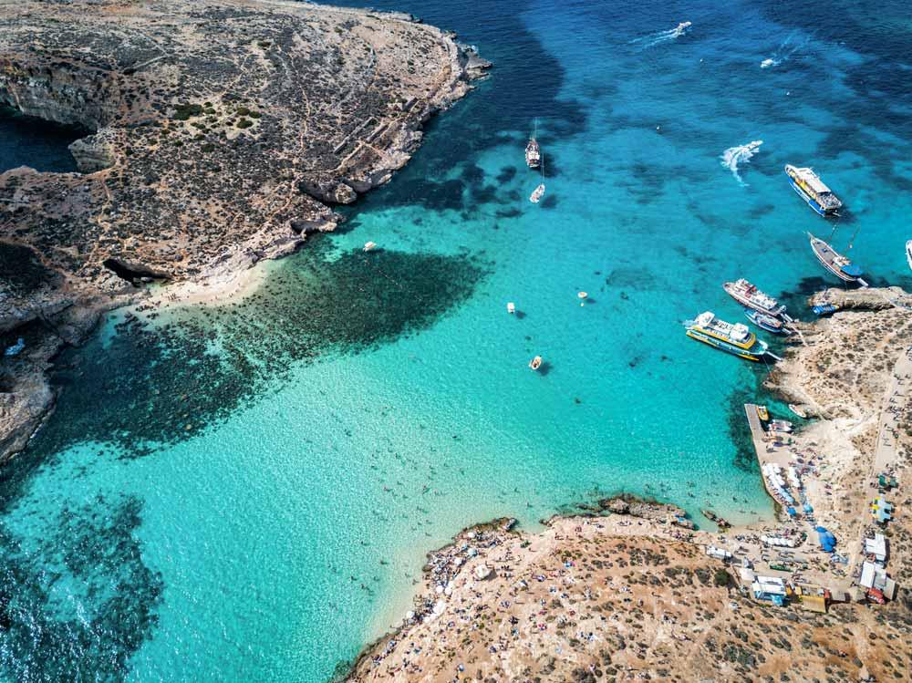 comino island malta europe