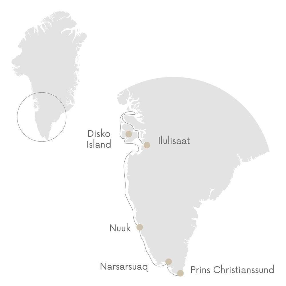 greenland tour map