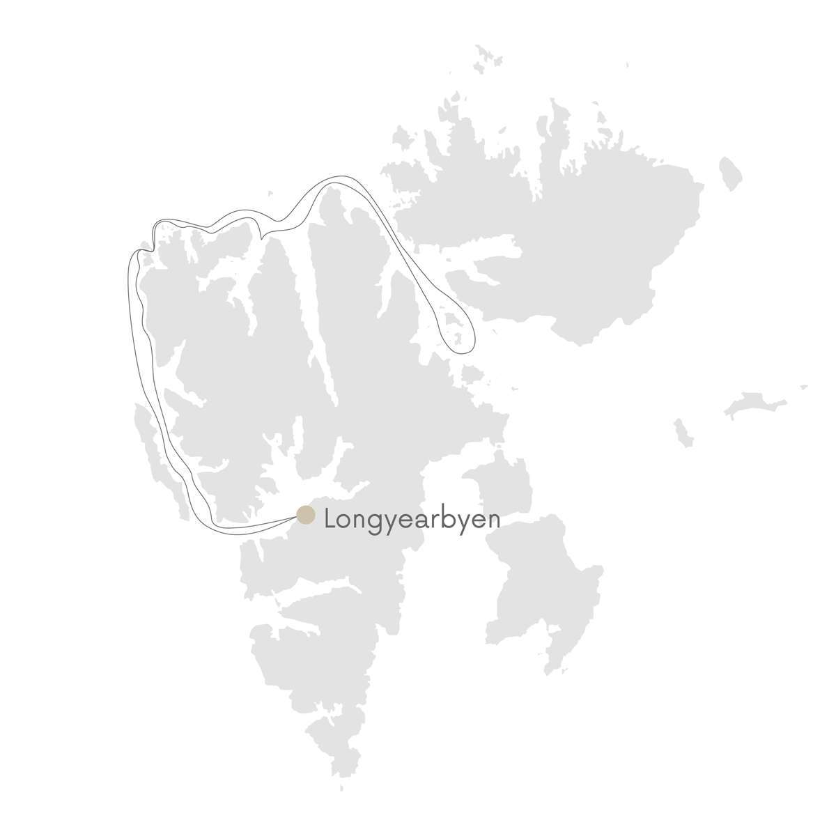 svalbard expedition cruise route map